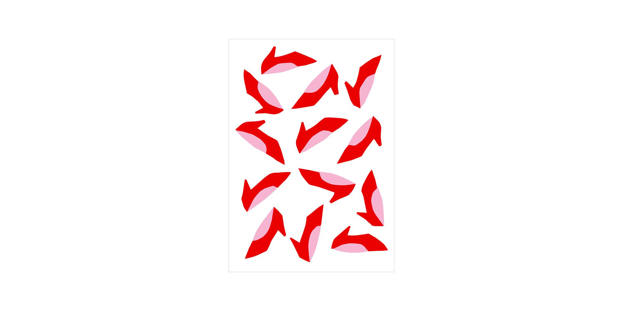 ポストカード(赤いくつ)