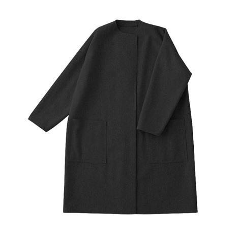 切りっぱなしコート 黒