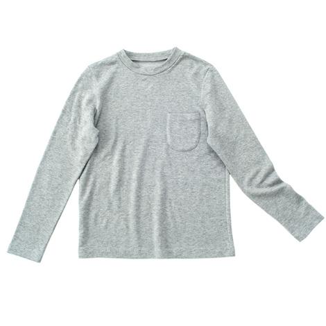 カシミヤ混裏毛Tシャツ