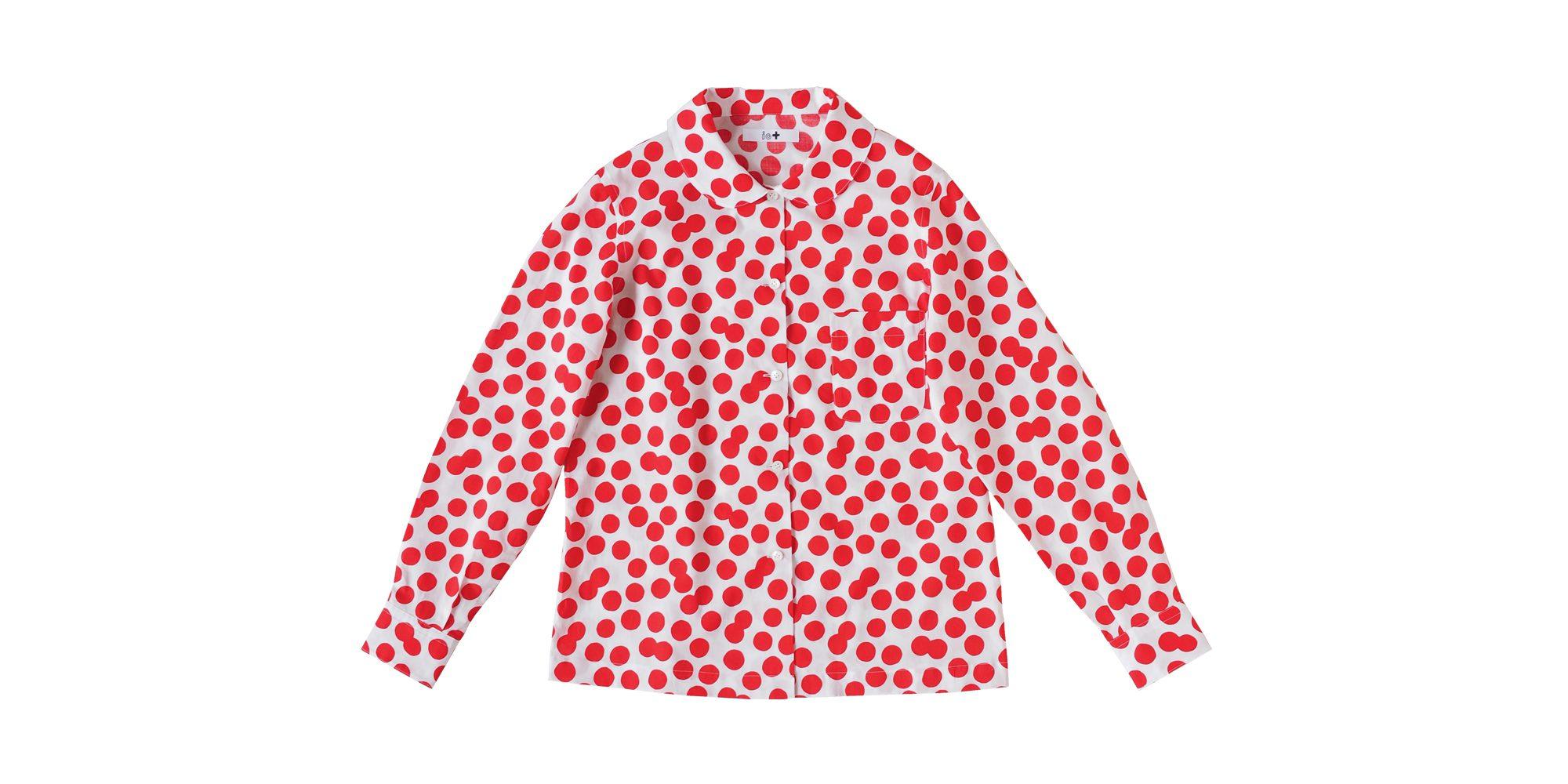 io+丸襟シャツ (ブラスドット)