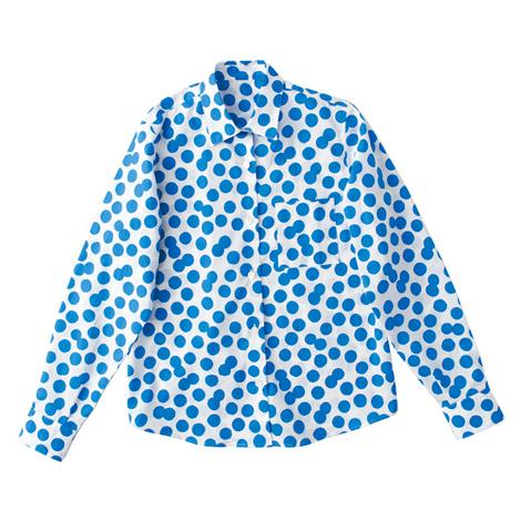 プラスドット長袖シャツ