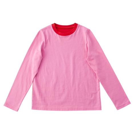配色長袖Tシャツ