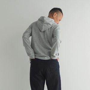 紺 モデル身長173㎝Mサイズ着用 後ろ