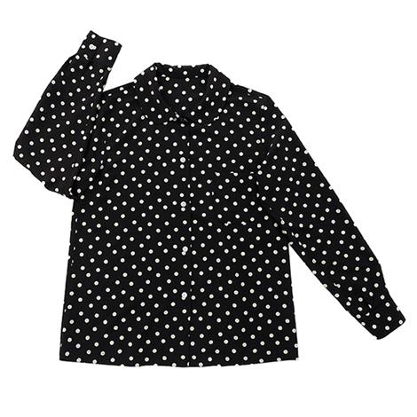 ドットの長袖シャツ