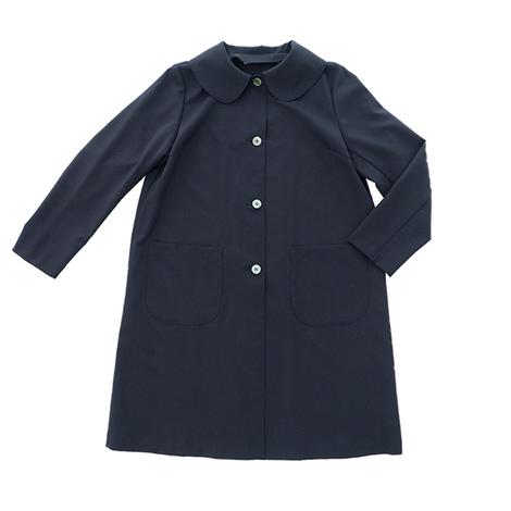 丸襟の短めコート (サマーウール)