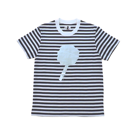 半袖ボーダーTシャツ(フラワー)
