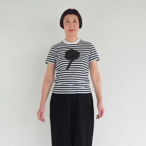 フラワー(黒×黒) モデル身長163㎝ Sサイズ着用