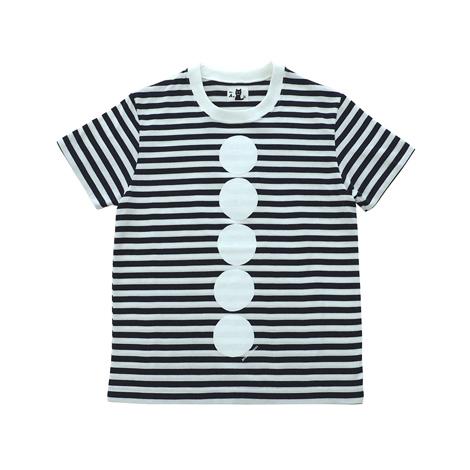 半袖ボーダーTシャツ(ボタン)