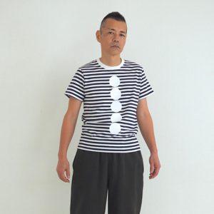 ボタン(紺×白) モデル身長173㎝ Mサイズ着用
