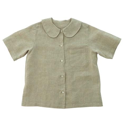 麻の半袖シャツ