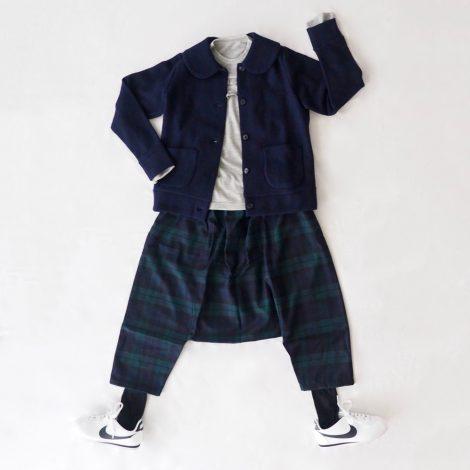 丸襟のジャケット