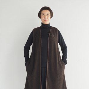茶 モデル身長163㎝ Fサイズ着用
