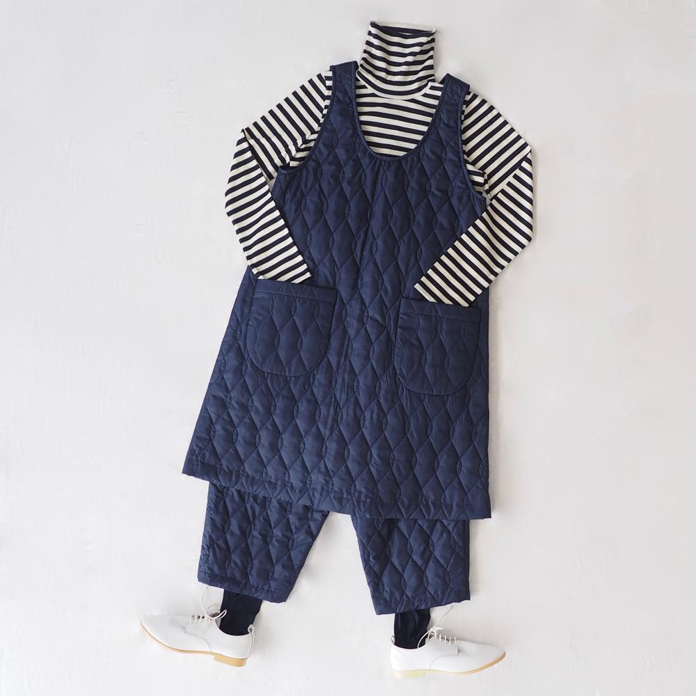 aa.キルティングのジャンパースカート