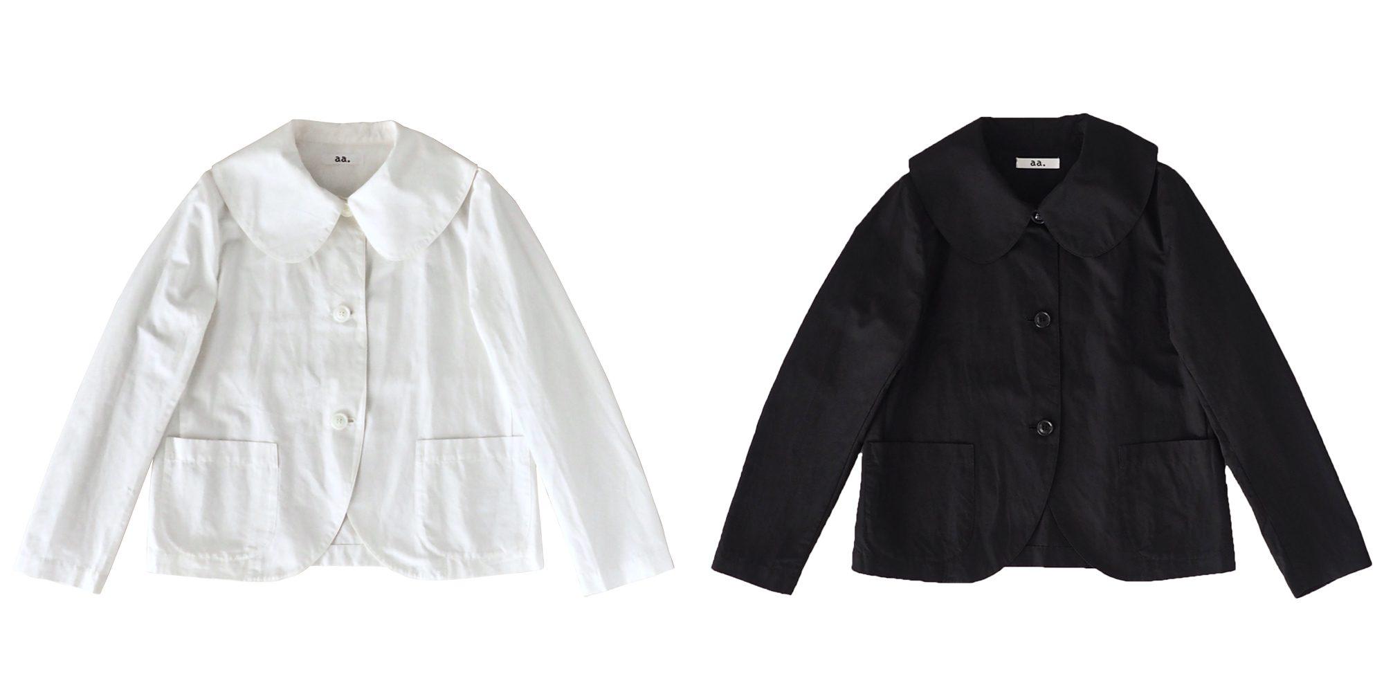 aa.綿麻の丸襟ジャケット