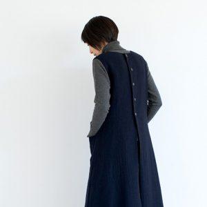 モデル身長164㎝ Mサイズ着用(紺)