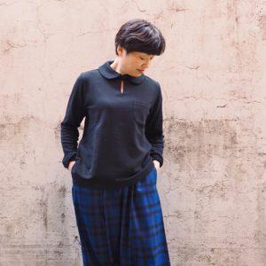 青×黒 モデル身長153㎝ Sサイズ着用
