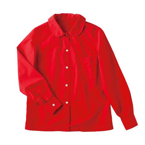丸襟シャツ (製品染め)
