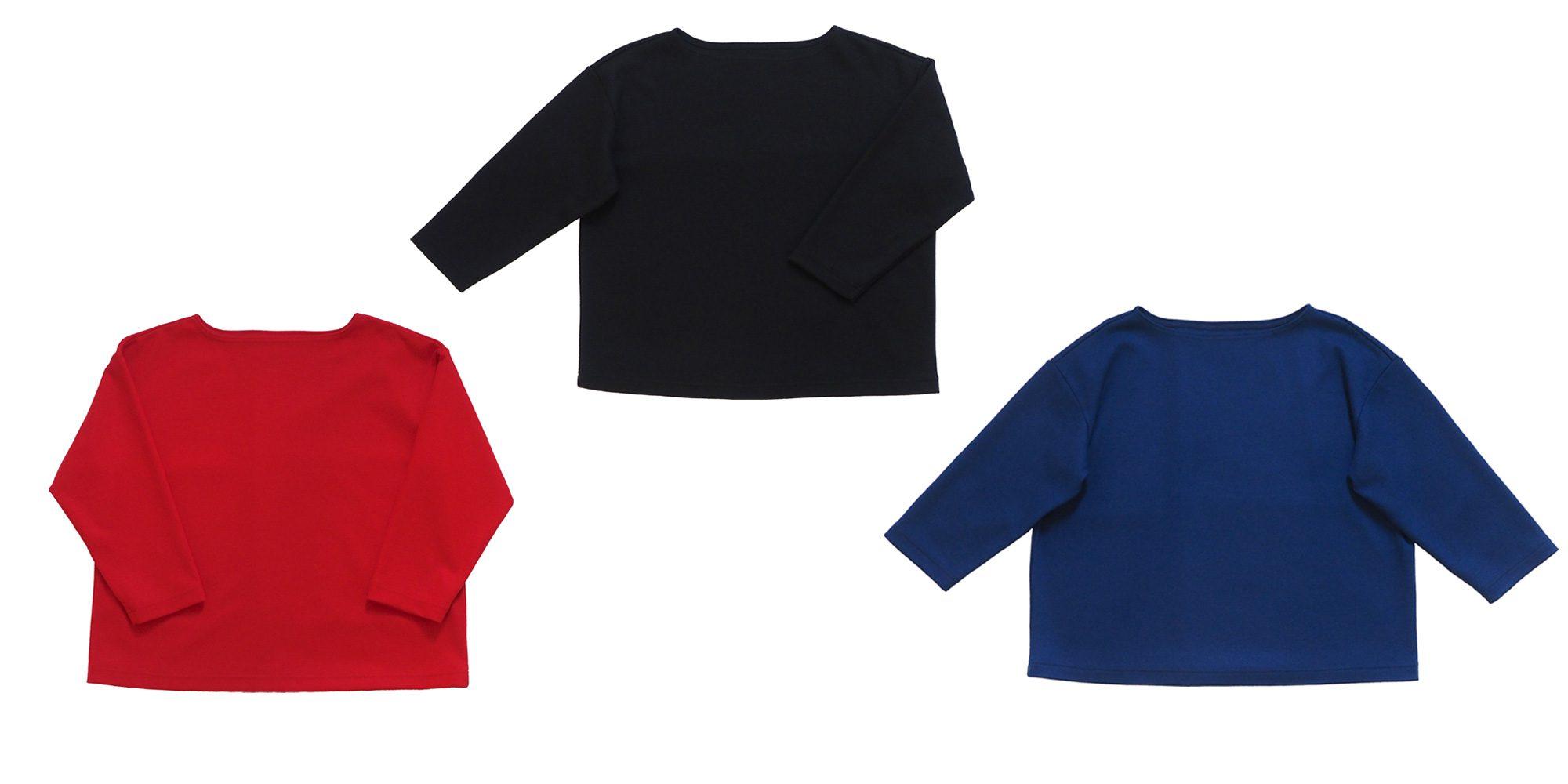 ウールボートネックTシャツ