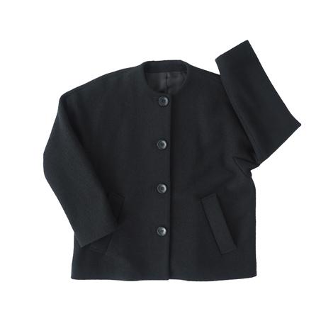 襟なしジャケット(圧縮ウール)