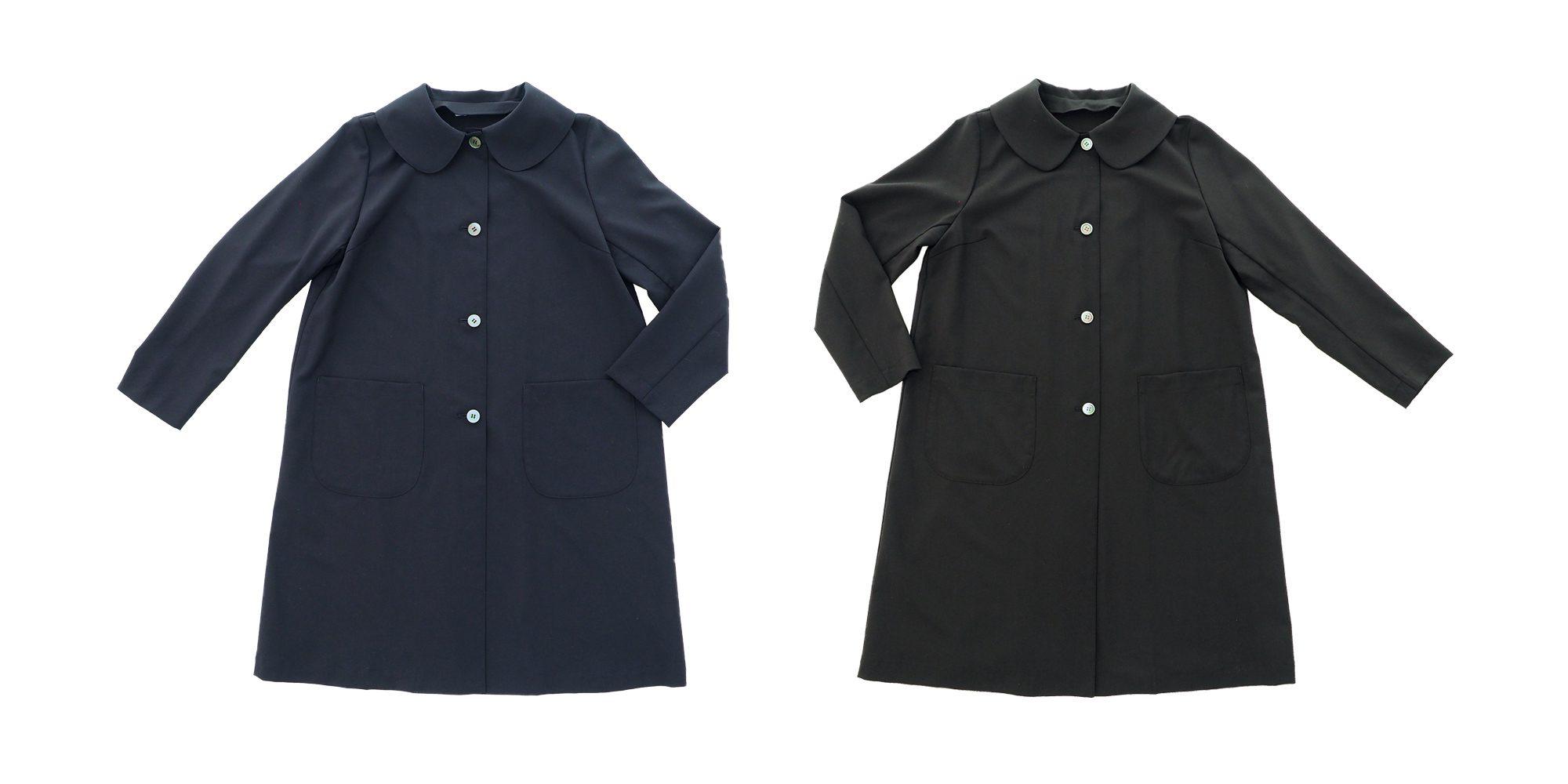 丸襟の短めコート(サマーウール)