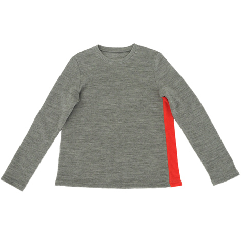 aa.クルーネック配色セーター