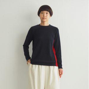 紺×赤 モデル身長164㎝Mサイズ着用