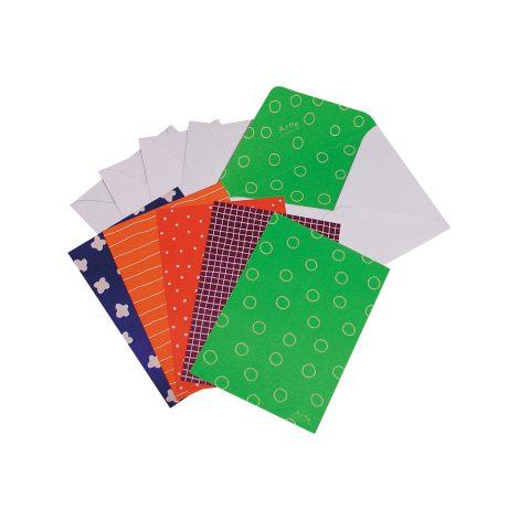 アルネ5カラー封筒カードセット