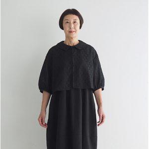 黒 モデル身長163㎝ Mサイズ着用 ※『バルーンノースリーブワンピース1』とセットアップでフォーマルウェアとしても着られます。