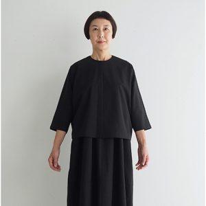 黒 モデル身長163㎝ Fサイズ着用 ※『バルーンノースリーブワンピース1』とセットアップでフォーマルウェアとしても着られます。