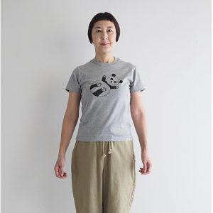 パンダ(グレー) モデル身長163㎝ XSサイズ着用