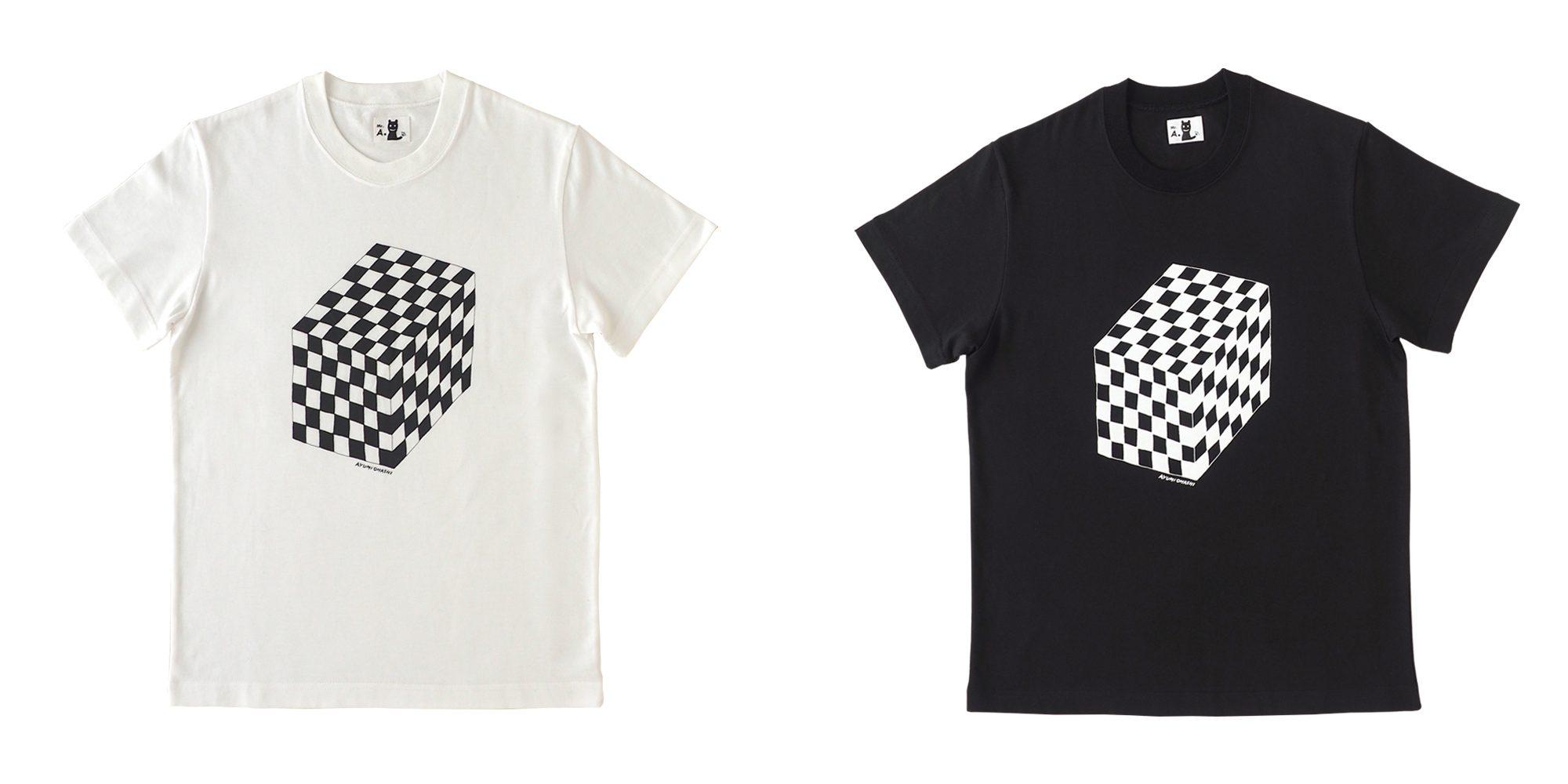 半袖プリントTシャツ(キューブ2)