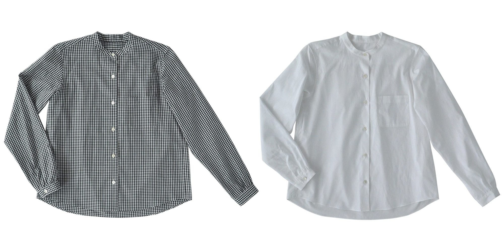 aa.ノーカラーシャツ