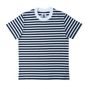 半袖ボーダーTシャツ(紺)