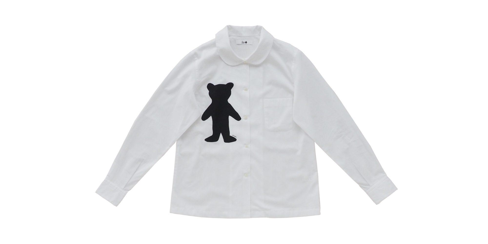 io+丸襟プリントシャツ(くま)