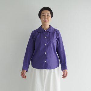(製品染め)紫色 モデル身長163㎝ Mサイズ着用