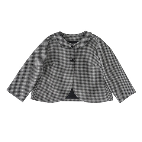 aa.丸襟のショートジャケット
