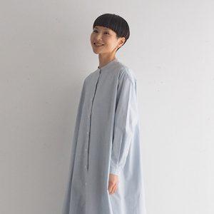 ライトブルー モデル身長164㎝ Mサイズ着用