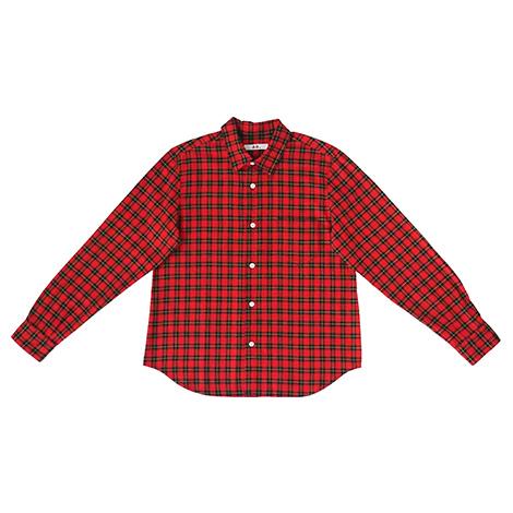 aa.チェック柄のシャツ