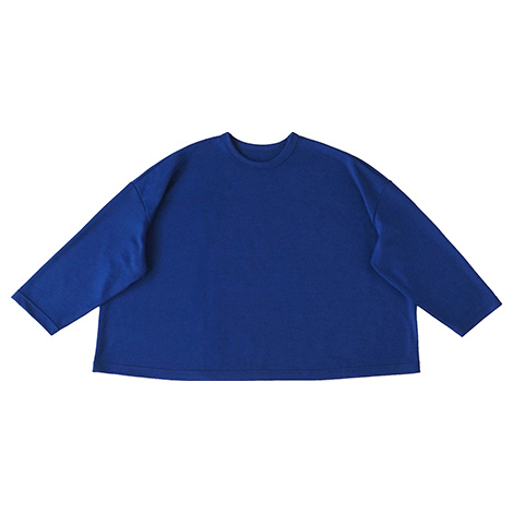 aa.ウールのフレアワイド長袖Tシャツ