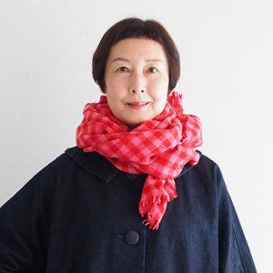 織りストール赤×ピンク