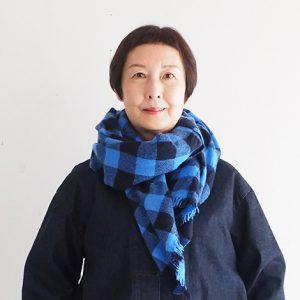 織りストール紺×青