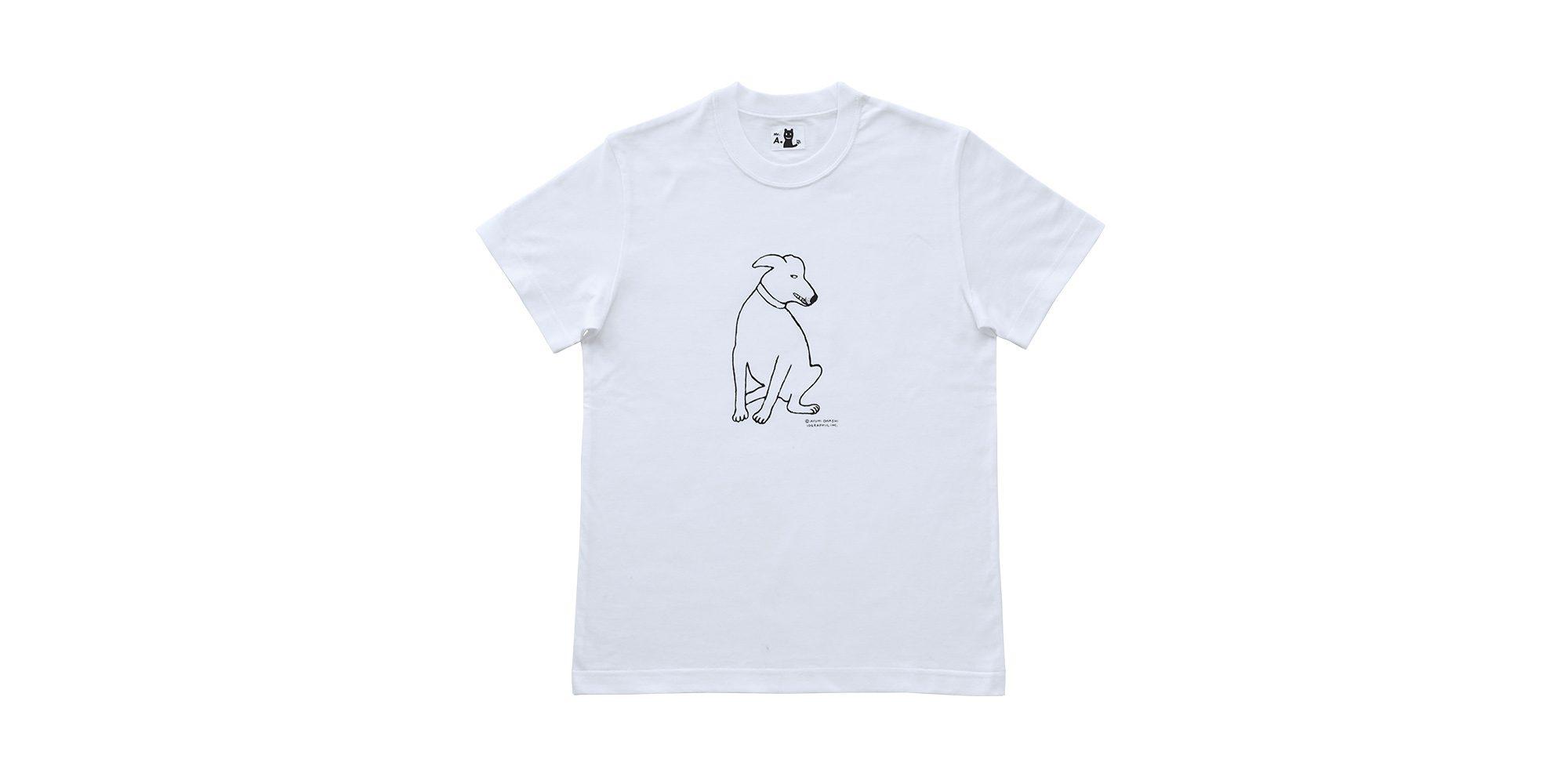 半袖プリントTシャツ(白いともだち)